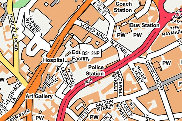 BS1 2NP map - OS OpenMap – Local (Ordnance Survey)
