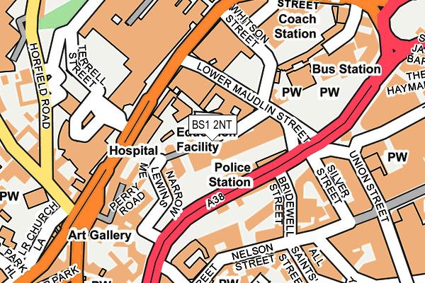BS1 2NT map - OS OpenMap – Local (Ordnance Survey)