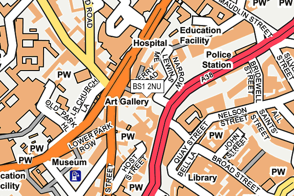BS1 2NU map - OS OpenMap – Local (Ordnance Survey)