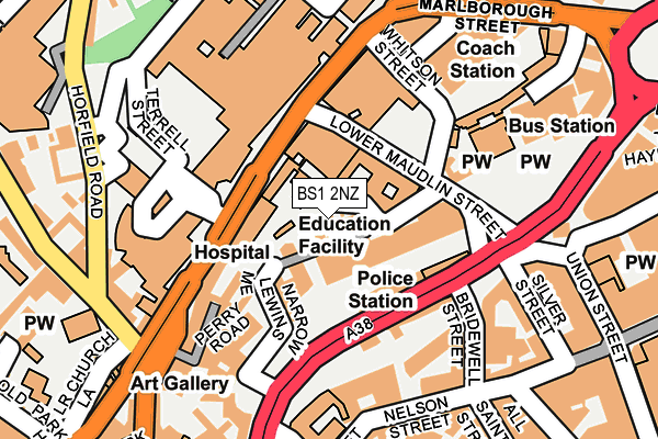 BS1 2NZ map - OS OpenMap – Local (Ordnance Survey)