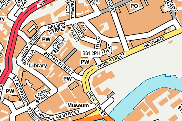 BS1 2PH map - OS OpenMap – Local (Ordnance Survey)