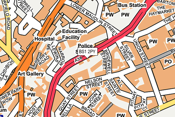 BS1 2PY map - OS OpenMap – Local (Ordnance Survey)