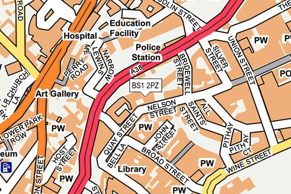 BS1 2PZ map - OS OpenMap – Local (Ordnance Survey)
