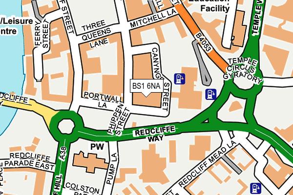 BS1 6NA map - OS OpenMap – Local (Ordnance Survey)