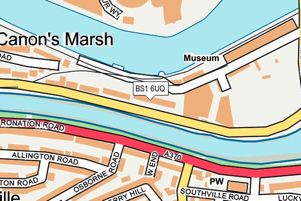 BS1 6UQ map - OS OpenMap – Local (Ordnance Survey)