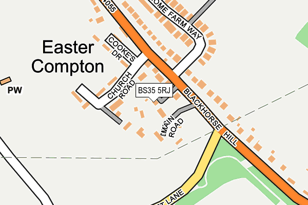 Map of BROOKSON ACJ42 LIMITED at local scale