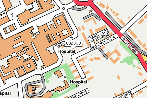 Image result for map red cross lane and stansgate avenue and greenlands cambridge