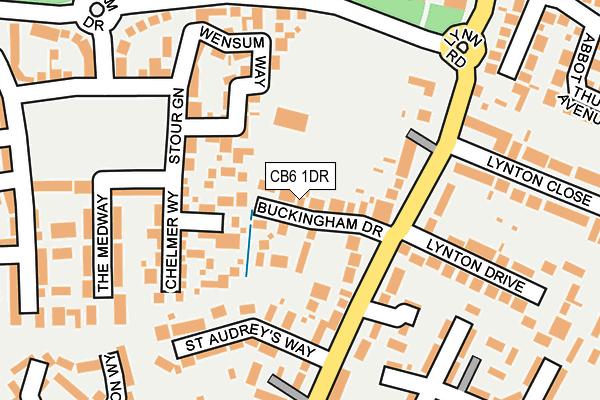 CB6 1DR map - OS OpenMap – Local (Ordnance Survey)