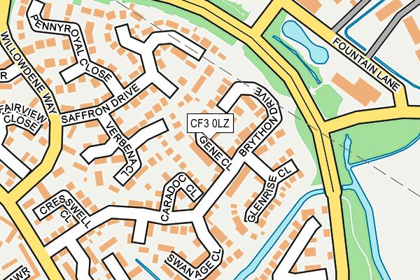 CF3 0LZ map - OS OpenMap – Local (Ordnance Survey)