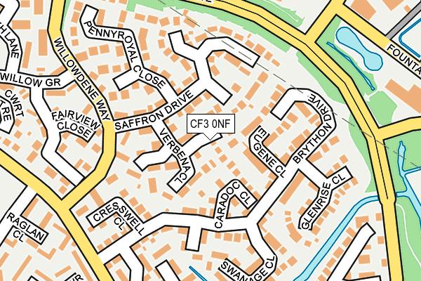 CF3 0NF map - OS OpenMap – Local (Ordnance Survey)