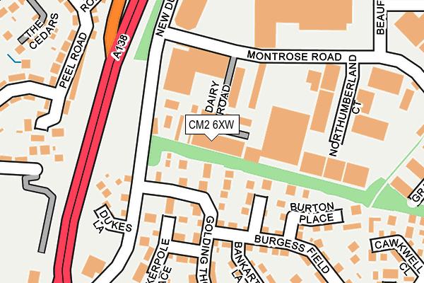 CM2 6XW map - OS OpenMap – Local (Ordnance Survey)