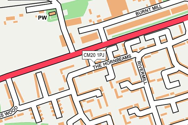 CM20 1PJ maps