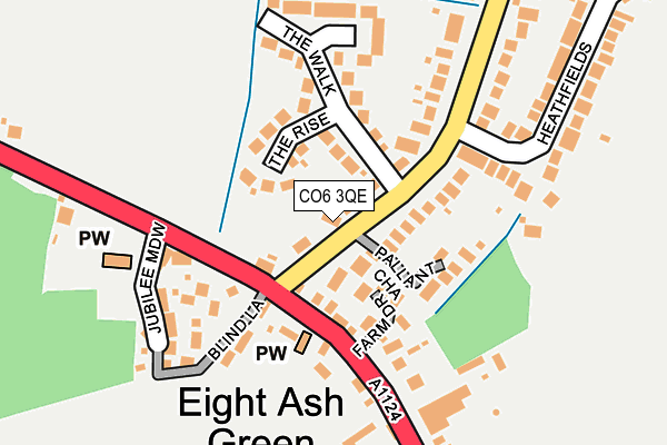 Map of ASHLAWN LIMITED at local scale