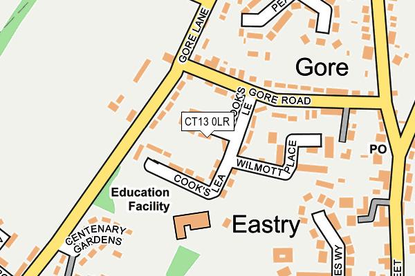 CT13 0LR map - OS OpenMap – Local (Ordnance Survey)