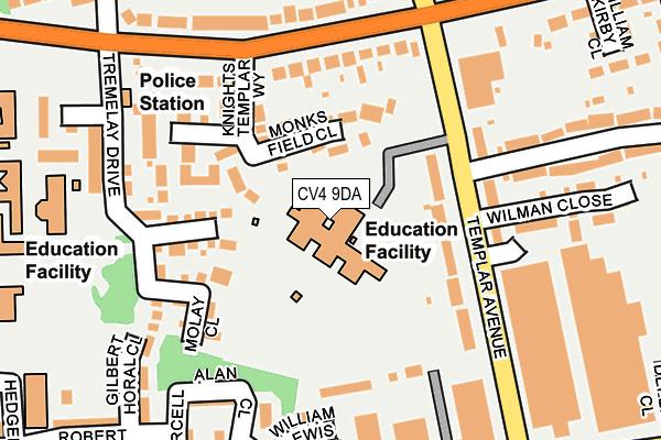 CV4 9DA map - OS OpenMap – Local (Ordnance Survey)