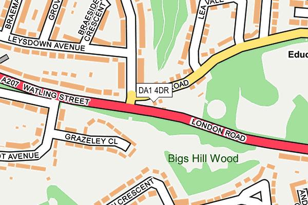 DA1 4DR map - OS OpenMap – Local (Ordnance Survey)