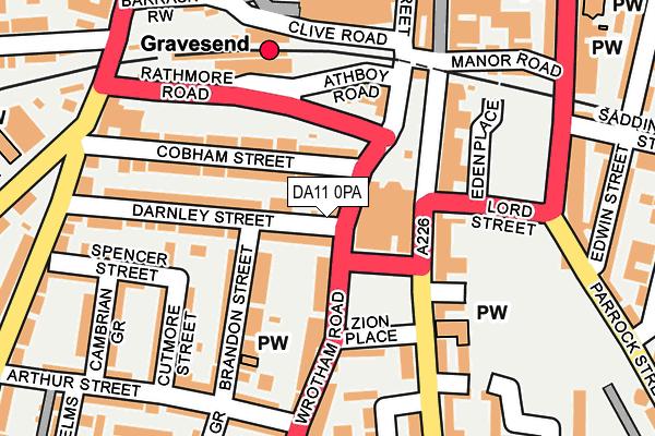 DA11 0PA map - OS OpenMap – Local (Ordnance Survey)