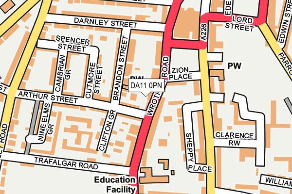 DA11 0PN map - OS OpenMap – Local (Ordnance Survey)