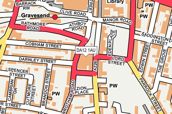 DA12 1AU map - OS OpenMap – Local (Ordnance Survey)