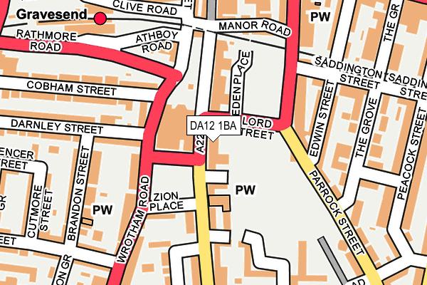 DA12 1BA map - OS OpenMap – Local (Ordnance Survey)