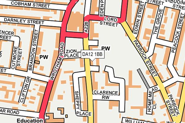 DA12 1BB map - OS OpenMap – Local (Ordnance Survey)