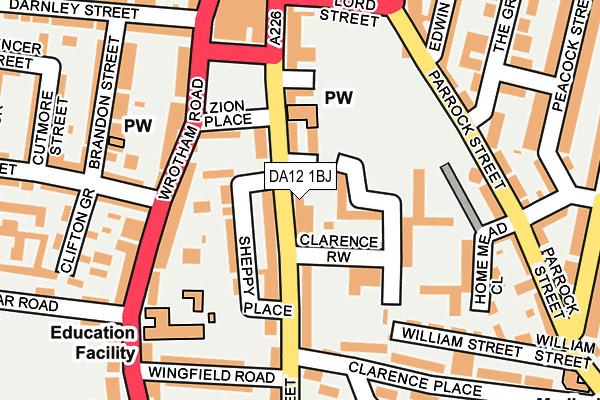 DA12 1BJ map - OS OpenMap – Local (Ordnance Survey)