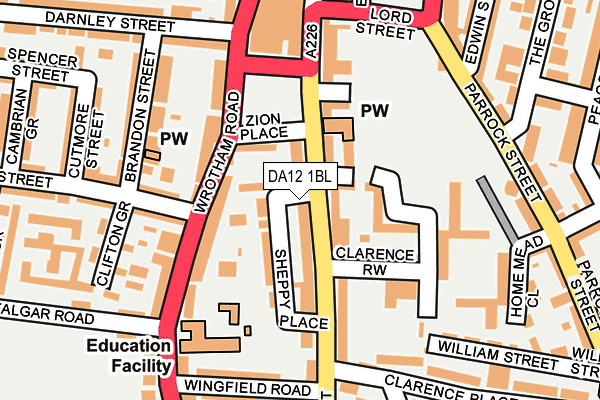 Map of BROOKES DISPLAY CO. LIMITED at local scale