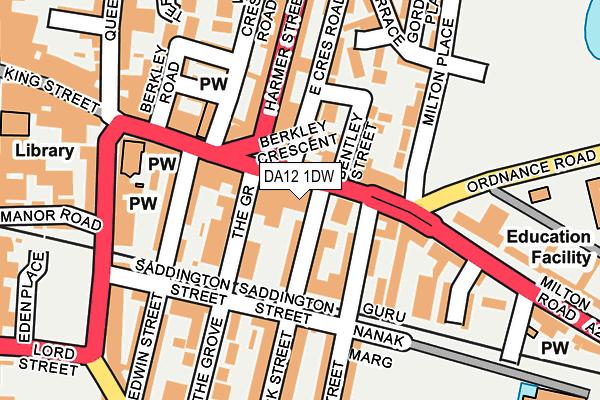 DA12 1DW map - OS OpenMap – Local (Ordnance Survey)