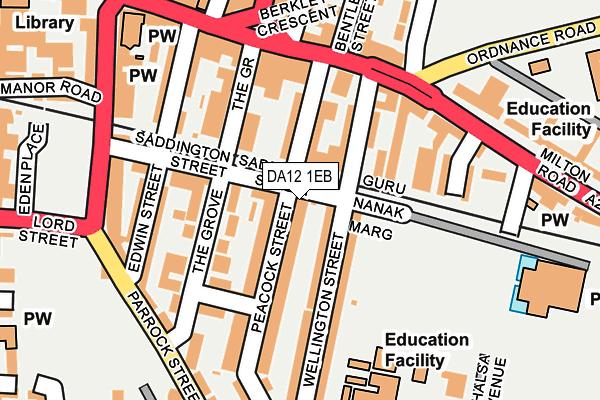 DA12 1EB map - OS OpenMap – Local (Ordnance Survey)