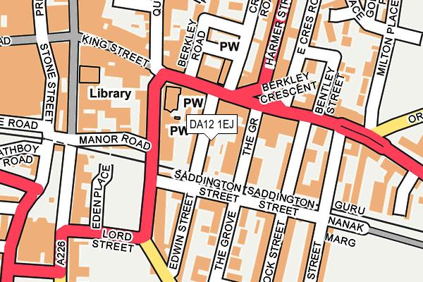 DA12 1EJ map - OS OpenMap – Local (Ordnance Survey)