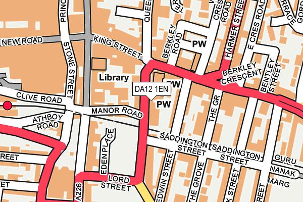 DA12 1EN map - OS OpenMap – Local (Ordnance Survey)