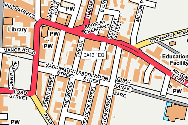 DA12 1EQ map - OS OpenMap – Local (Ordnance Survey)