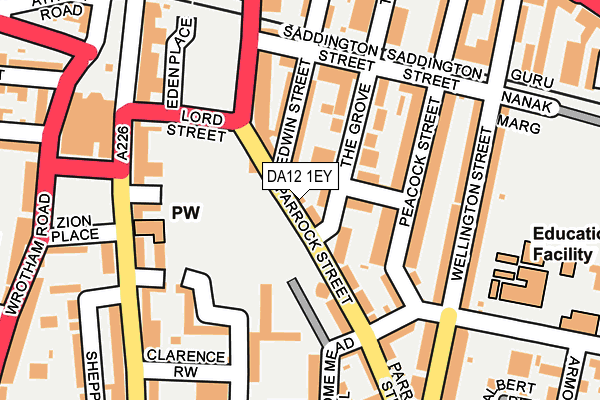 Map of 4WAYDIAL LTD at local scale