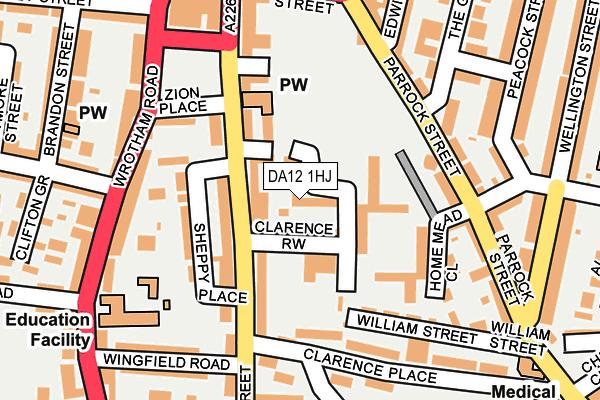 DA12 1HJ map - OS OpenMap – Local (Ordnance Survey)