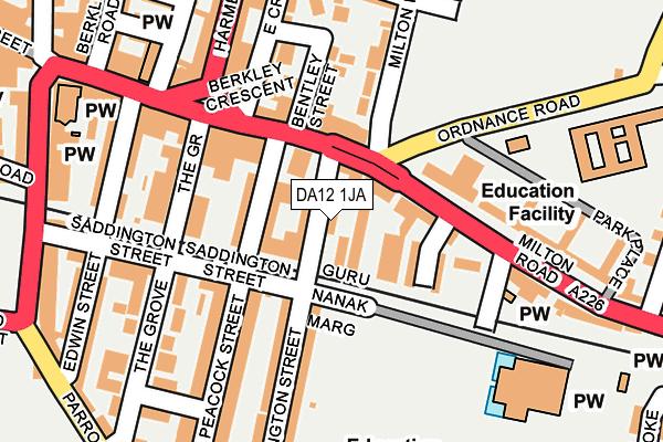 Map of AGI LTD at local scale