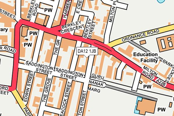 DA12 1JB map - OS OpenMap – Local (Ordnance Survey)