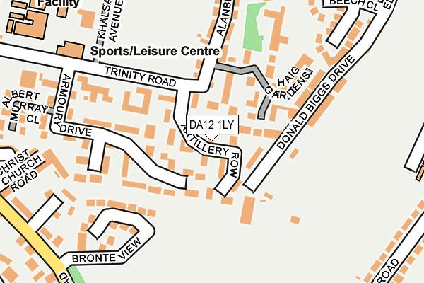 DA12 1LY map - OS OpenMap – Local (Ordnance Survey)