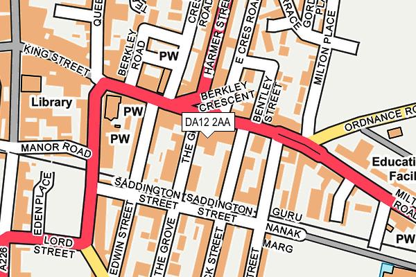 DA12 2AA map - OS OpenMap – Local (Ordnance Survey)