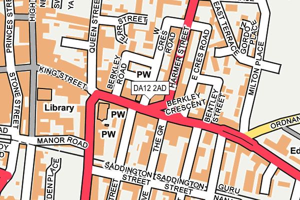 DA12 2AD map - OS OpenMap – Local (Ordnance Survey)