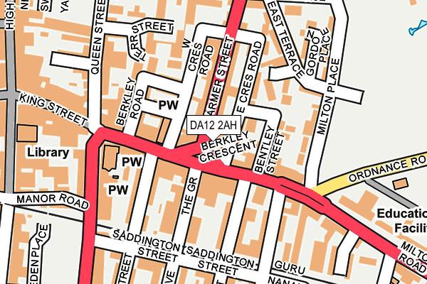 DA12 2AH map - OS OpenMap – Local (Ordnance Survey)