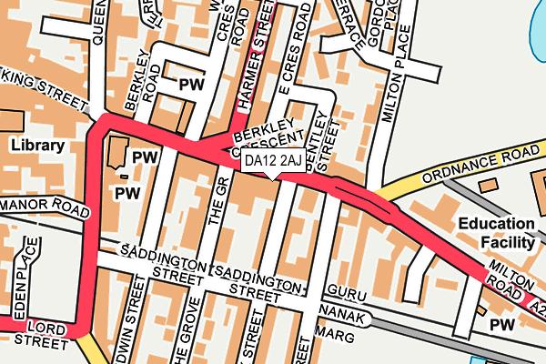 DA12 2AJ map - OS OpenMap – Local (Ordnance Survey)