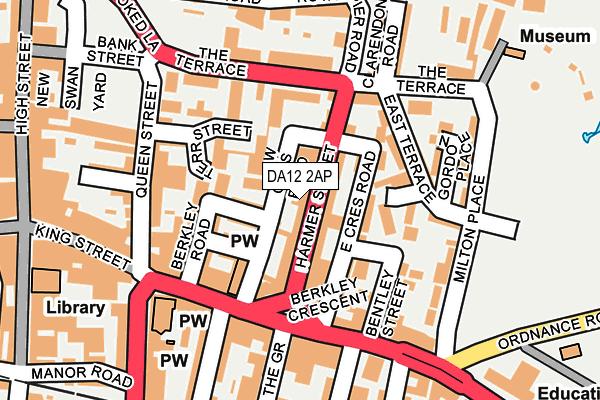 DA12 2AP map - OS OpenMap – Local (Ordnance Survey)