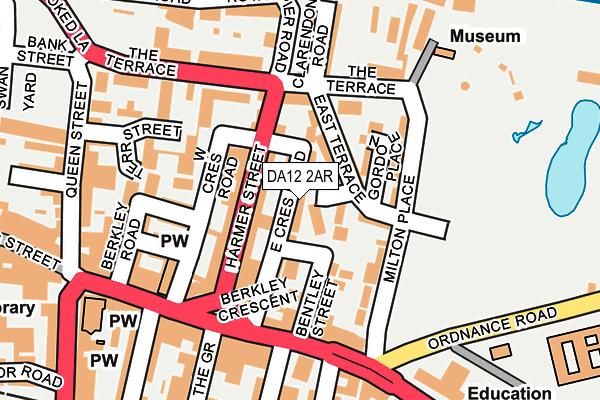DA12 2AR map - OS OpenMap – Local (Ordnance Survey)