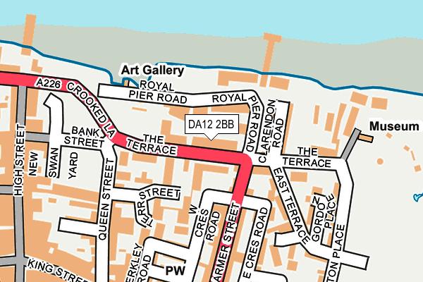 DA12 2BB map - OS OpenMap – Local (Ordnance Survey)
