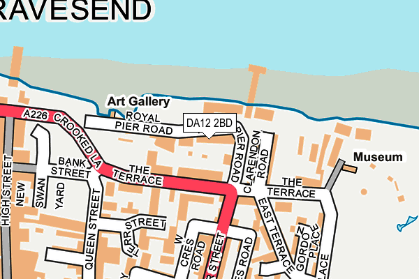 DA12 2BD map - OS OpenMap – Local (Ordnance Survey)