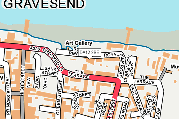 DA12 2BE map - OS OpenMap – Local (Ordnance Survey)