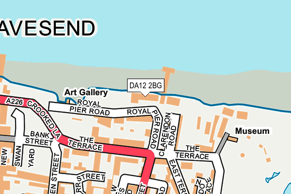 DA12 2BG map - OS OpenMap – Local (Ordnance Survey)