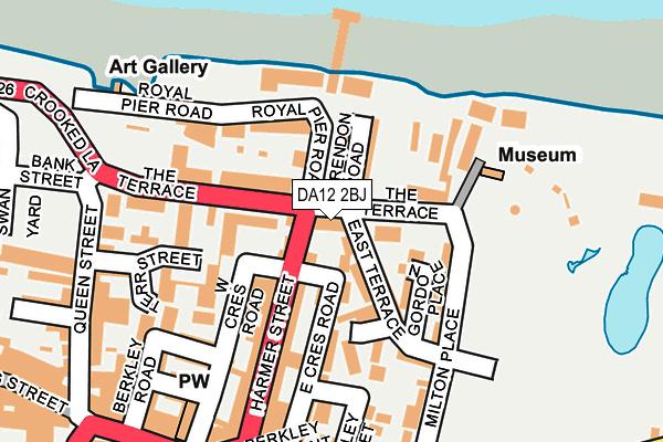 DA12 2BJ map - OS OpenMap – Local (Ordnance Survey)
