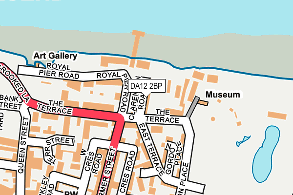 DA12 2BP map - OS OpenMap – Local (Ordnance Survey)