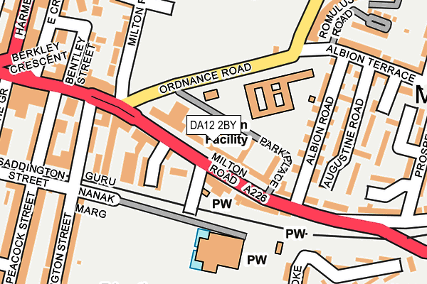 DA12 2BY map - OS OpenMap – Local (Ordnance Survey)